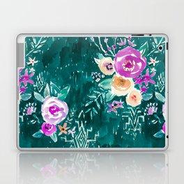 LAVISH FLORAL - EMERALD Laptop & iPad Skin