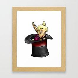 Rabbit in a Hat Framed Art Print