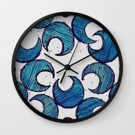 Gaillardia Dot Wall Clock