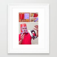 magneto Framed Art Prints featuring Magneto by Vó Maria