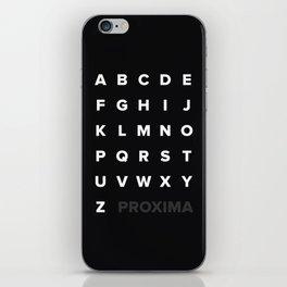 Proxima Nova iPhone Skin