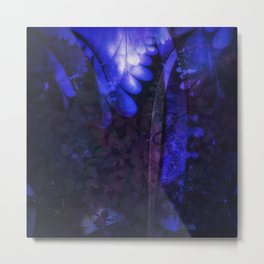 Magical moonlight in forest - An abstract version Metal Print