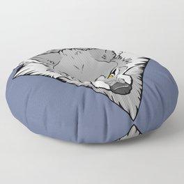 Scrappy (B&W) Floor Pillow
