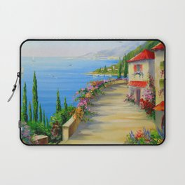 The town by the sea Laptop Sleeve
