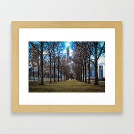 Downtown Windy City: Through The Trees Framed Art Print