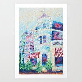 P Street Rowhouses Art Print