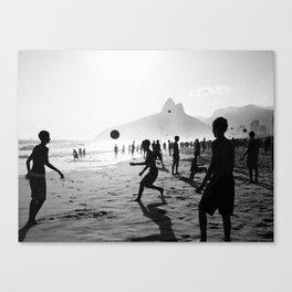 Beach Soccer at Ipanema Canvas Print