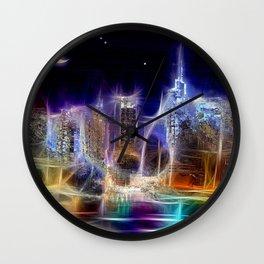 Starry Night New York City Wall Clock