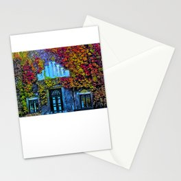Denmark in Autumn Leaves, university building Stationery Cards