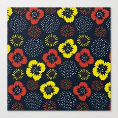 Blooming Wild (red & yellow) Canvas Print