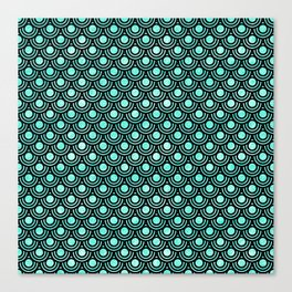 Mermaid Scales in Metallic Turquoise Canvas Print