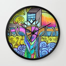 Colorful Prayers Wall Clock