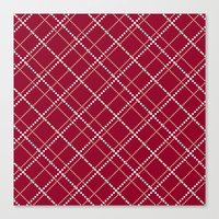 burgundy Canvas Prints featuring Burgundy Pattern by Christina Rollo