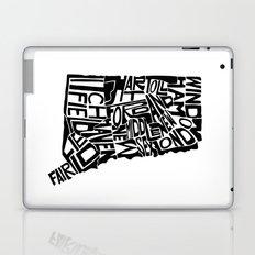 Typographic Connecticut Laptop & iPad Skin