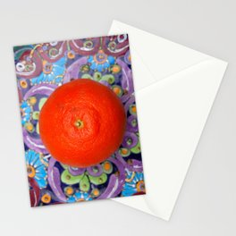tangerine on a plate Stationery Cards