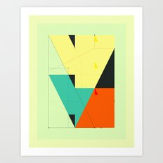 DELINEATION (Downtown) Art Print
