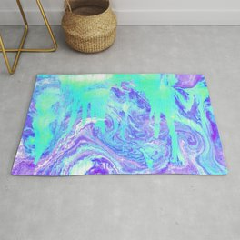 Melting Marble in Mint & Purple Rug
