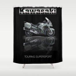 Kawasaki Touring Ninja Shower Curtain