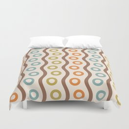 Mid Century Modern Rising Bubbles Pattern 102 Duvet Cover