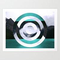 lake Art Prints featuring Lake Louise by Fimbis