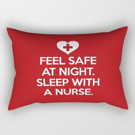 Sleep With A Nurse Funny Quote Rectangular Pillow