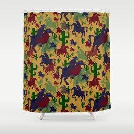 Cowboys Pattern Shower Curtain