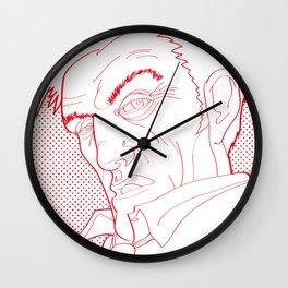 The Man speaking. Wall Clock