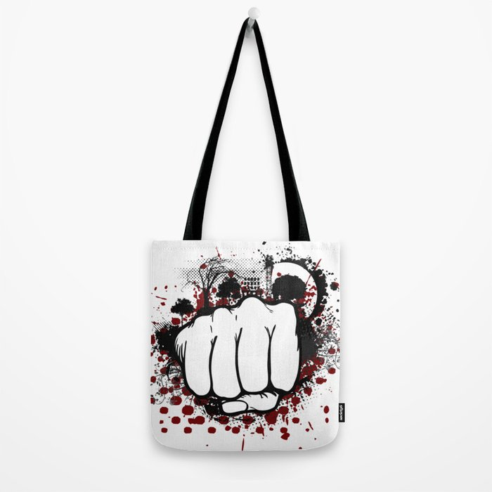 Grunge Fist Punch Tote Bag