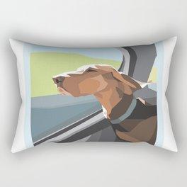 Hound in the Sunshine Rectangular Pillow