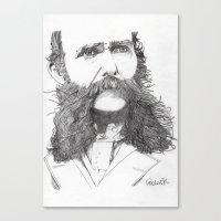 moustache Canvas Prints featuring Moustache by Paul Nelson-Esch Art