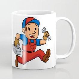 handyman Running With A Toolbox Coffee Mug