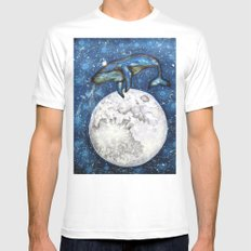The Whale's Dream MEDIUM Mens Fitted Tee White