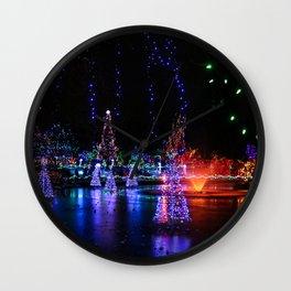 frozen pond lights Wall Clock