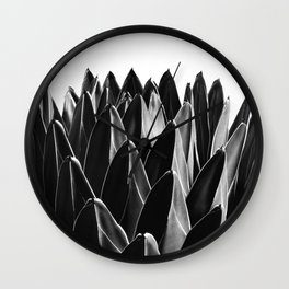 Agave Chic #7 #succulent #decor #art #society6 Wall Clock