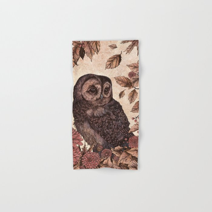 Tawny Owl Pink Hand & Bath Towel