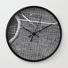Center City Philadelphia Map Wall Clock
