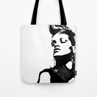 rihanna Tote Bags featuring Rihanna. by Christine DeLong Creative Studio
