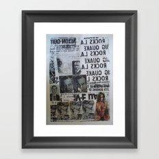 MORE NEWS Framed Art Print