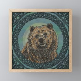 Brown Bear  Framed Mini Art Print