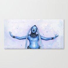 Diva Plavalaguna | Fifth Element Watercolor Art Canvas Print