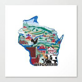 Wisconsin Country Sampler Canvas Print