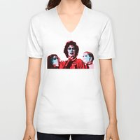 rocky horror V-neck T-shirts featuring The Rocky Horror Picture Show - Pop Art by William Cuccio aka WCSmack