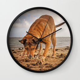 Paws Against Claws. Wall Clock