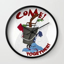 Come! Together! Wall Clock