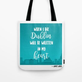 James Joyce Print Tote Bag