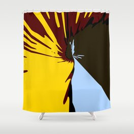 Waterfall Modern Art Colorful Scenery Shower Curtain
