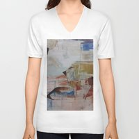 broadway V-neck T-shirts featuring Broadway East No.17 by Xi By Xi Chen