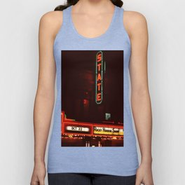 Night Lights State Street Theater, Ithaca NY Unisex Tank Top
