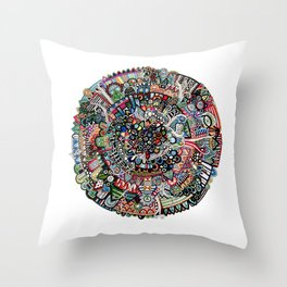 Color x Mandala Throw Pillow