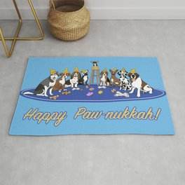 Happy Paw-nukkah! - Happy Hannukah Rug